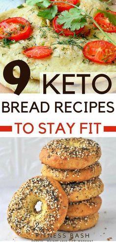Keto flat head bread or keto bread recipes for sliders or sandwiches. Top 9 keto bread recipes which are easy to make. Make your keto breakfasts more delicious with these keto breads. No Bread Diet, Best Keto Bread, Low Carb Bread, Low Carb Diet, Keto Bread Coconut Flour, Keto Banana Bread, Almond Flour, Almond Milk, Lemon Bread