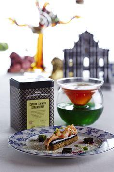 """Cocktail au thé """"Dilmah Dragon Ceylon Tea"""" et Saumon sauvage écossais fumé, gelée de betterave, citron vert et toast de pain de seigle par le MGM Macau #DilmahRHT #GlobalChallenge #teagastronomy #recipes #tea"""