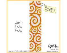 Beadweaving Pattern Peyote bracelet: Full by VikisBeadingPatterns