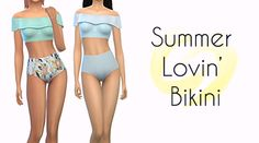 """aperfectlittlesimblob: """"Summer Lovin' Bikini Okay so its not summer yet but in the sims its always summer so I can release swimsuits year round lol • 2 versions • Solids in WMS Unnaturals • 30 Patterns with matching bottoms • Base Game..."""
