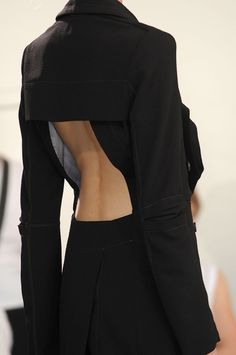 Tailored jacket with exposed back - experimental garment construction; fashion details // Nicolas Andreas Taralis