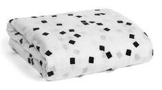 Modern Burlap Organic Cotton Muslin Swaddle Blanket -  Black and white Confetti