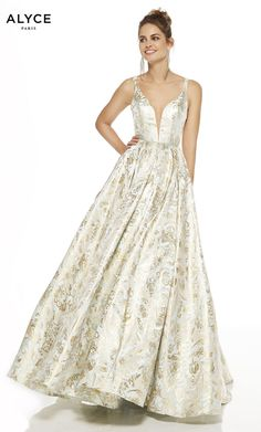 Check out the deal on Alyce Paris 60611 Jacquard Floral Prom Dress at French Novelty Pagent Dresses, Floral Prom Dresses, Best Prom Dresses, Prom Dress Stores, Prom Dresses Online, Prom Party Dresses, Wedding Dresses, Perfect Prom Dress, A Line Gown