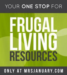 Frugal Living Resources via MrsJanuary.com #frugal