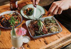 Now Open: A Very Tropical New Eatery (Doing Jerk Chicken Jaffles) Rolls Into Windsor - Broadsheet Jerk Chicken, Beach Shack, Caribbean Recipes, Windsor, Rum, Rolls, Food And Drink, Tropical, Beach Shade Canopy