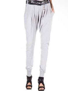 Fashion Gray Terylene Spandex Womens Harem Pants - Pants - Womens Clothing
