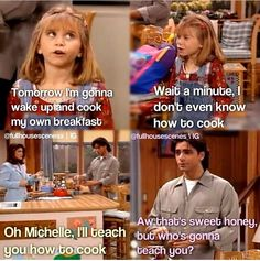 I love this show! Full House Funny, Full House Memes, Full House Quotes, Funny Relatable Memes, Funny Texts, Funny Quotes, Michelle Tanner, Uncle Jesse, Fuller House