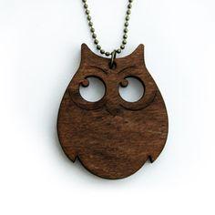 Holz-Kette Eule von Designliebling  (wooden necklet by Designliebling)