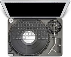 DJ apple keyboard decal sticker macbook pro decal by youyoudecal