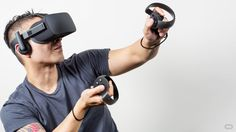 In the battle of the big virtual reality headsets, the Vive is still slightly ahead of Oculus, thanks partly to the former's excellent controllers. Right now, the Rift still relies on a Xbox One gamepad, its own Oculus Touch controllers… Best Virtual Reality, Virtual Reality Headset, Augmented Reality, Virtual World, Reality Check, Gaming Headset, Gaming Pcs, Nintendo, Xbox One