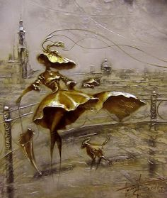 Painting Oil Canvas Huge Modern Oil Painting by OilPaintingsRaen Modern Oil Painting, Oil Painting On Canvas, Ballet Art, Art Corner, People Art, Gold Paint, Art World, Modern Art, Art Gallery