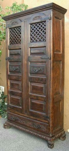 Liked idea about Spanish Furniture: love this Spanish Armoire and it is not very deep so will fit some nice areas in the house
