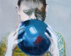 "Saatchi Online Artist: Hanna Ilczyszyn; Acrylic, Painting ""Balon I"""