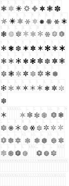a snowflake font