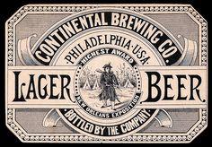 Vintage style labels: Continental Brewing Co. Logos Vintage, Vintage Lettering, Vintage Advertisements, Vintage Type, Graphics Vintage, Vintage Signs, Vintage Packaging, Vintage Labels, Retro Typography