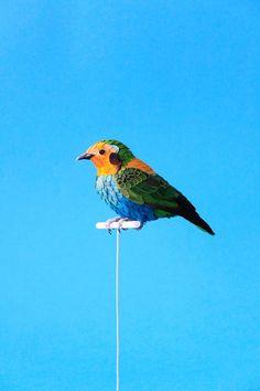 New Lifelike Paper Birds and Butterflies by Diana Beltran Herrera - My Modern Met