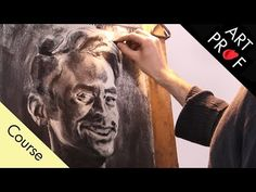 Charcoal Drawing: How to Draw a Self-Portrait with a Mirror Charcoal Portraits, Charcoal Art, Charcoal Drawing, Drawing Techniques, Drawing Tips, Drawing Ideas, Self Portrait Drawing, Art Tutorials, Einstein