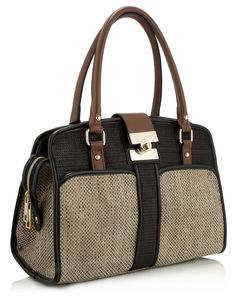 maise colour block woven bag in black by monsoon