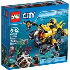 LEGO City 60092 Deep Sea Explorers Deep Sea Submarine, Includes 3 Minifigures With Assorted Accessories - Brought to you by Avarsha.com