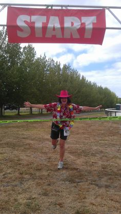 "PRACTICING TO WIN - There was no way I was going to beat REAL runners at this year's Matakana, who finished the 7K run in under 30 minutes. FAR OUT! That really is Fruit Loops! So my motto was ""Win Before You Begin."" More fun Best of Matakana Things to Do here... http://www.matakanacountry.co.nz/markets-lodging-accommodations-auckland-coast-wine-country-hotels/the-best-of-matakana-things-to-do-in-matakana-nz-auckland-wine-region-area-attractions/"