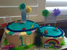Pool Party themed Happy Birthday Cake