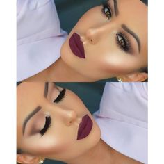 Burgundy Lipstick ❤ liked on Polyvore featuring beauty products, makeup, lip makeup and lipstick