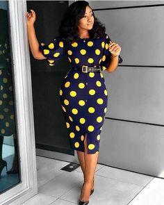 Women Embroidery African Print Maxi Summer Dress Dashiki Dress Knee-length Source by judythudoka Dresses Office Wear Dresses, Best Casual Dresses, Dress Outfits, Office Outfits, Latest African Fashion Dresses, African Dresses For Women, African Print Fashion, Nigerian Fashion, African Clothes