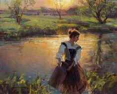 Beautiful Women Paintings by Daniel F. Gerhartz. Part 2-AmO Images-AmO Images