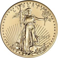 2017 American Gold Eagle (1/2 oz) $25 Brilliant Uncirculated US Mint         >>> Be sure to check out this awesome product. (This is an affiliate link) #CollectibleCoins