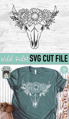 Bull Skulls, Cow Skull, Cricut Svg Files Free, Flower Svg, Shirt Alterations, Disney Diy, Svg Cuts, Textured Background, Cutting Files