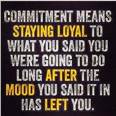 Goals - Action - Commitment