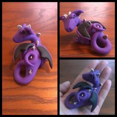 One of a kind polymer clay dragon by ARAartisticcreations on Etsy, $30.00