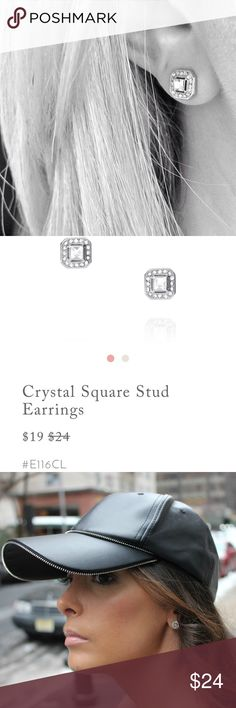 Crystsl Square Stud Earrings 🔴COPY & PASTE THIS LINK INTO YOUR BROWSER TO PURCHASE THESE EARRINGS FROM MY ONLINE BOUTIQUE FOR CHEAPER & RECEIVE FREE LIFETIME WARRANTY & FREE GIFT! https://www.chloeandisabel.com/products/E116CL/crystal-square-stud-earrings?listLocation=%20Product%20Search 🔴 If you have questions send me a text 412 377 7720 or call 🤙🏽 me 😘 Chloe + Isabel Jewelry Earrings