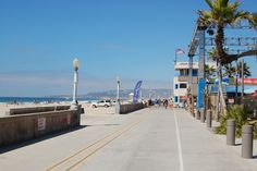 Pacific Beach boardwalk in San Diego - roller skated down it every Sunday