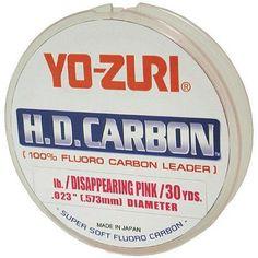Yo-Zuri 80lb 30yd HD Fluorocarbon Leader, Pink
