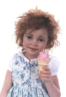 Isabel, a ooak polymer clay doll by Sarah Niemela