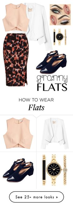 """""""granny flats"""" by heidi-jo-jacob on Polyvore featuring Rebecca Taylor, Finders Keepers, Style & Co., women's clothing, women's fashion, women, female, woman, misses and juniors"""