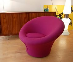 Chauffeuse Mushroom, Pierre Paulin, éd. Artifort Vevey, Vintage Design, Tub Chair, Mushroom, Accent Chairs, Furniture, Home Decor, Upholstered Chairs, Decoration Home