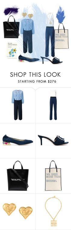 """""""You want to see the sea when others have sea"""" by shiyuan-zhang ❤ liked on Polyvore featuring MaxMara, Casadei, Off-White, Corto Moltedo, Christian Lacroix, Simon & Schuster and jumpsuits"""