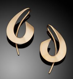 A Splash of Gold by Ben Dyer (Gold Earrings) | Artful Home