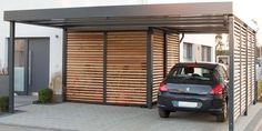 design metall carport aus holz verzinkt stahl mit abstellraum bonn deutschland metallcarport. Black Bedroom Furniture Sets. Home Design Ideas