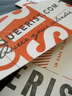 Typography - The Queerist Website Promo Materials