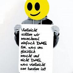 Poster TypoPrint Glücklich