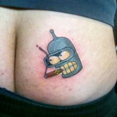 Bender from futurama Tattoo by Mario, #dantattoo83