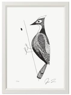 Woodpecker Print (Din A3) by Justin Landon