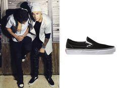 @VANS_66 @TheChilipepperL @justinbieber #vans #SS15 #classicSlip-on #black #streetwear #streetstyle #reggiocalabria