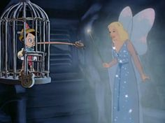 Screencap Gallery for Pinocchio Bluray, Disney Classics). Inventor Gepetto creates a wooden marionette called Pinocchio. His wish that Pinocchio be a real boy is unexpectedly granted by a fairy. The fairy assigns Pinocchio Disney, Disney Mickey, Disney Art, Disney Pixar, Walt Disney Characters, Disney Movies, Book Characters, Disney Fairies, Disney Magic