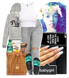 """""""Of course I got dem snacks"""" by justsamadhi ❤ liked on Polyvore featuring Victoria's Secret, Casetify, Disney, H&M and MCM"""