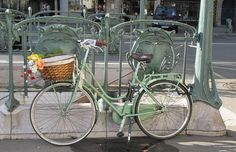 bicycles with baskets in Paris - Google Search