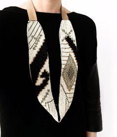 Sutten Beaded Scarf Necklace